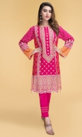 Printed & Embellished Wider Width Lawn Shirt(2.50m) Dyed Cambric Shalwar(2.50m)