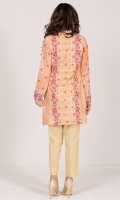 Printed Bamboo Modale Shirt(2.65M),Dyed & Embroidered Organza Lace(1)