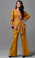 Wider width Khaddar Printed Shirt(2.50m) Khaddar Dyed Shalwar(2.50m)