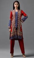 Printed wider width Khaddar shirt(2.50m)