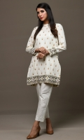 Dyed & Embroidered Lawn Karandi Shirt(2.50m)