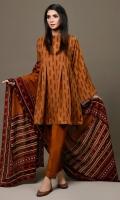 Jacquard Shirt(2.50m) Printed Khaddar Dupatta(2.50m) Dyed Khaddar Shalwar(2.50m)