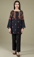 Printed & Embroidered Wider Width Khaddar Shirt Front(1.25m) Printed Wider Width Khaddar Shirt Back(1.50m)