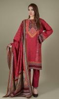 Printed Wider Width Khaddar Shirt(2.50m) Printed Khaddar Dupatta(2.50m) Dyed Khaddar Shalwar(2.50m)