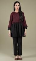 Dyed & Embroidered Khaddar Slub Yoke & Sleeves(1.00m) Dyd Khaddar Slub Shirt(1.75
