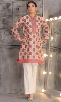 floral jaquard kurta in regular fit with camisole