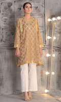 flare shirt with gold lace detailing on outseam