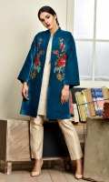 Bright sequined floral embellishment gives this oriental jade colored jacket