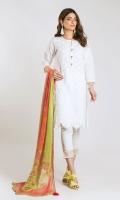 Cambric Front & Sleeve Schiffli Embroidered 2.0m Cambric Back 1.25m Chiffon Printed Dupatta 2.5m Shalwar 2.5m