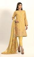 Self Jacquard Embroidered Shirt 3.25m Viscose Tissue Printed Dupatta 2.5m Shalwar 2.5m