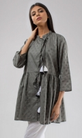 Flared Tunic with Tie-Ups
