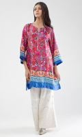 Satin Printed Embellished Kurta