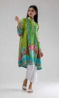 Printed Satin Kurta