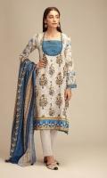 Front Khaddar Printed 1.25m Back & Sleeves Khaddar Printed 2.0m Printed Khaddar Dupatta 2.5m Shalwar 2.5m