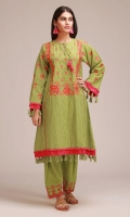 JACQUARD EMBROIDERED SHIRT 3.25m - EMBROIDERED SHALWAR 2.5m