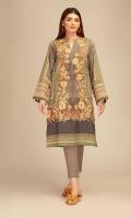 Front PV Printed 1.25m Back PV Printed 1.25m Sleeves PV Printed 0.5m Shalwar 2.5m Embroidered Kora Patti