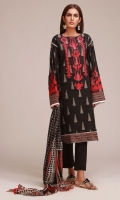 Jacquard Embroidered Shirt 3.0m Chiffon Dupatta 2.5m