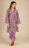 Front & Back Khaddar Printed 2.5m Sleeves Khaddar Printed 0.75m Embroidered Shalwar 2.5m