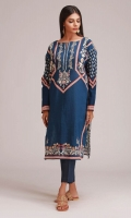 Front Khaddar Print Embroidered 1.25m Back Khaddar Printed 1.25m Sleeves Khaddar Printed 0.5m Shalwar 2.5m
