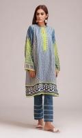 Front & Back Khaddar Print Embroidered 2.25m Sleeves Khaddar Printed 1.0m Shalwar 2.5m