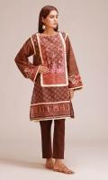 Front & Back Khaddar Print Embroidered 2.25m Sleeves Khaddar Printed 0.75m Shalwar 2.5m