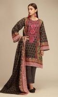 Print Embroidered Khaddar Front 1.25m Printed Khaddar Back & Sleeves 2.0m Printed Khaddar Dupatta 2.5m Shalwar 2.5m