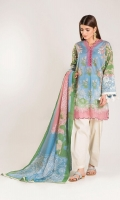 Front Lawn Printed length 1.25m Back Lawn Printed length 1.25m Sleeve Lawn Print Embroidered length 0.5m Lawn Printed Dupatta length 2.5m