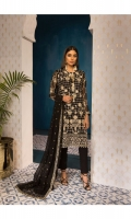 Embroidered Chiffon Shirt Front 1.25M Embroidered Chiffon Shirt Back 1.25M Embroidered Chiffon Sleeves 0.75M Dyed Wn Inner 2.5M Dyed Cotton Satin Pants 2.5M Embroidered Chiffon Duppatta 2.5M