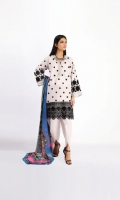 Schiffli Embroidered Cambric Shirt 3.25m Chiffon Printed Dupatta 2.5m Shalwar 2.5m
