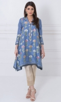 Round neck 3/4 length sleeves Printed back