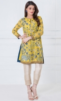 Round neck Full embroidered front Embroidered full length sleeves Embellished hem (front and back) Plain back
