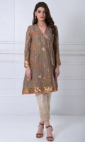 V neck Fully embroidered Embroidered full length sleeves