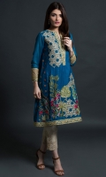 Round neck Fully embroidered Full length sleeves with embroidered cuffs