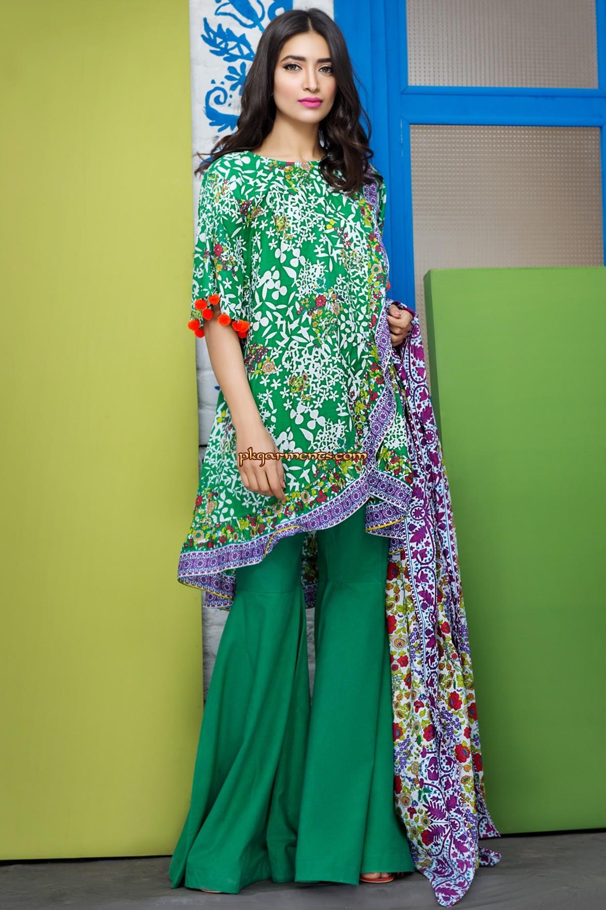Shirt design lawn - Printed Lawn Shirt 3m Lawn Shalwar 2 5m Lawn Dupatta 2 5m