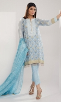 Embroidered Cotton Net Shirt 4.0m Dyed Inner Shirt 2.5m Tissue Silk Dupatta 2.5m Cotton Satin Shalwar 2.5m Embroidered Organza