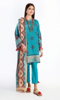 Rotary Print Embroidered Lawn Kameez Front 1.25M Rotary Printed Back 1.25M Rotary Printed Sleeves 0.6M Dyed Cambric Pant 2.5M Rotary Printed Dupatta 2.5M