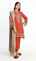 Front Lawn Print Embroidered 1.25M Back Lawn Printed 1.25M Sleeves Lawn Printed 0.5M Lawn Printed Dupatta 2.5M Shalwar 2.5M