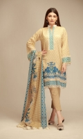 Front & Sleeves Cambric Printed Embroidered 2.0m Back Cambric Printed 1.25m Printed Cambric Dupatta 2.5m Shalwar 2.5m