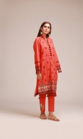 Jacquard Embroidered Shirt 3.25m Embroidered Shalwar 2.5m