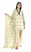 Front Khaddar Print Embroidered 1.25m Back & Sleeve Khaddar Printed 2.0m Chiffon Printed Dupatta 2.5m Shalwar 2.5m