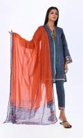Front & Back Khaddar Printed 2.0m Sleeves Khaddar Printed 0.75m Chiffon Printed Dupatta 2.5m Shalwar 2.5m