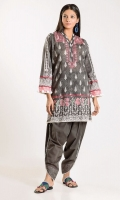Front Lawn Print Embroidered 1.25m Back Lawn Printed 1.25m Sleeve Lawn Printed 0.5m Embroidered Shalwar 2.5m
