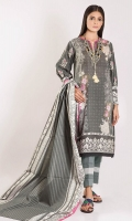 Front Lawn Print 1.25m Back & Sleeve Lawn Embroidered 2.0m Lawn Printed Dupatta 2.5m Shalwar 2.5m