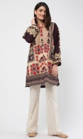 Round Neck Embroidered Full Length Sleeves Embroidered Back