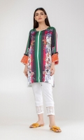 Embroidered Satin Kurta