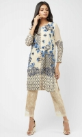 Pure chiffon kurta with monochromatic composed floral embroidery on front, back and sleeves.