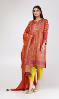 Two-piece Block Printed Silk Suit