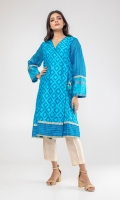 V neck angrakha style jacquard kurta finished with tassel on the front.