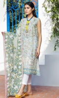 Embroidered Lawn Shirt 3.25m Printed Lawn Dupatta 2.5m