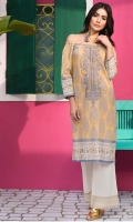 Embroidered Lawn Shirt 3.25m Embroidered Lawn Shalwar 2.5m